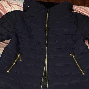 Pretty little thing Mara Navy Puffer Jacket